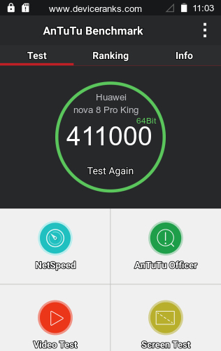 AnTuTu Huawei nova 8 Pro King of Glory Edition