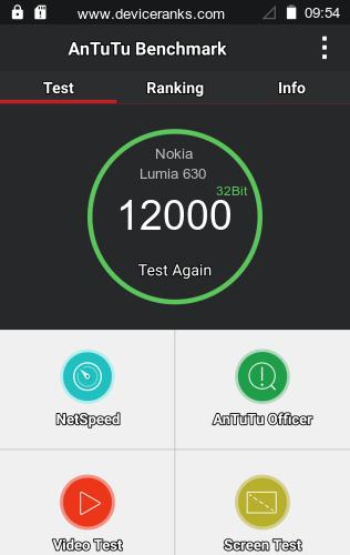 AnTuTu Nokia Lumia 630 test result