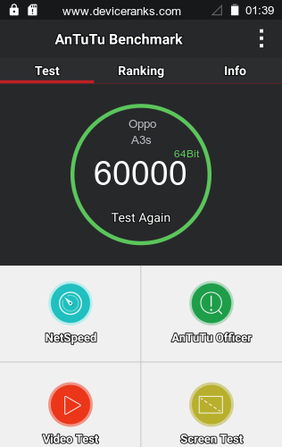 AnTuTu Oppo A3s test result