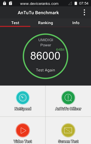 AnTuTu UMiDIGI Power