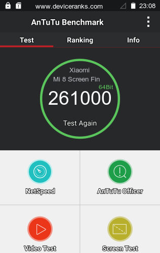 AnTuTu Xiaomi Mi 8 Screen Fingerprint Edition